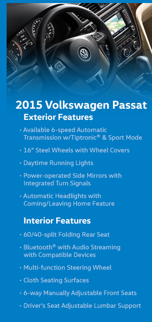 2015 Volkswagen Passat Features
