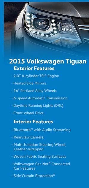 2015 Volkswagen Tiguan Model Features