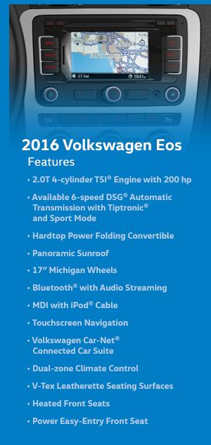 2016 Volkswagen EOS Features
