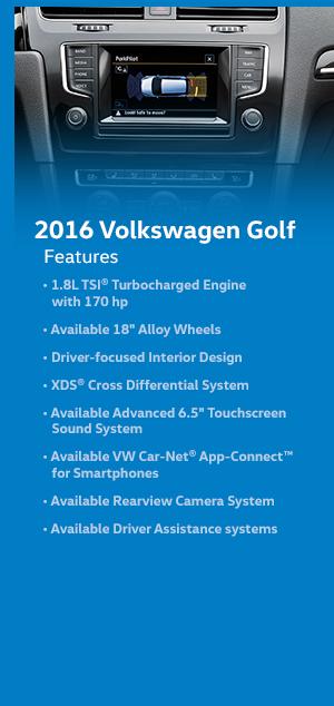 2016 Volkswagen Golf Features