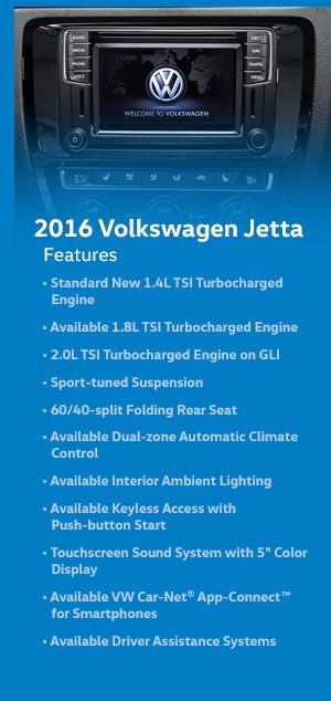 2016 Volkswagen Jetta Features