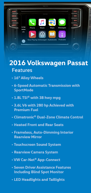 2016 Volkswagen Passat Features