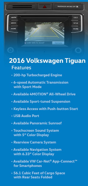 2016 Volkswagen Tiguan Features