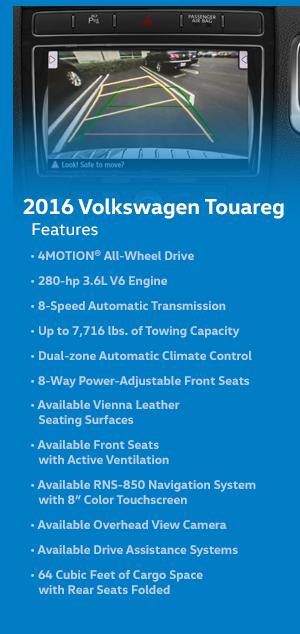 2016 Volkswagen Touareg Features