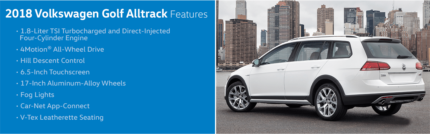 Review the new 2018 Volkswagen Golf Alltrack Features