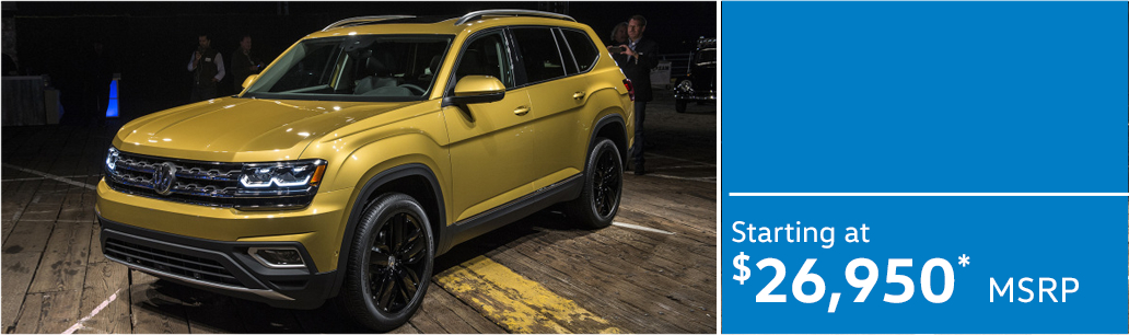 2018 Volkswagen Atlas model MSRP & MPG