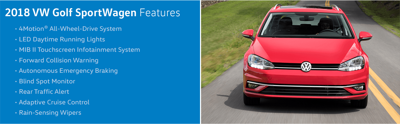 Review the new 2018 Volkswagen Golf Sportwagen Features