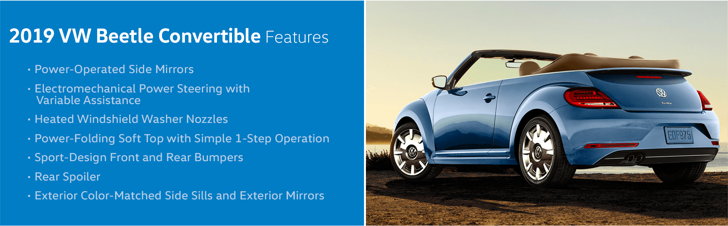 Review the new 2019 Volkswagen Beetle Convertible Features