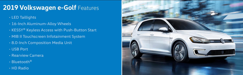 2019 Volkswagen e-Golf Highlight Features