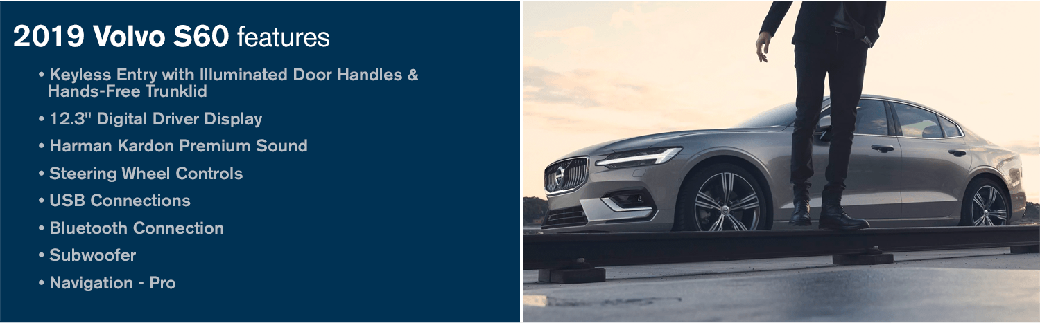 2019 Volvo S60 Model Features