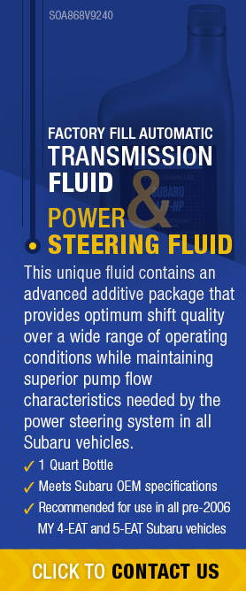 Learn About Genuine Subaru Transmission & Power Steering Fluid available near Olympia, WA