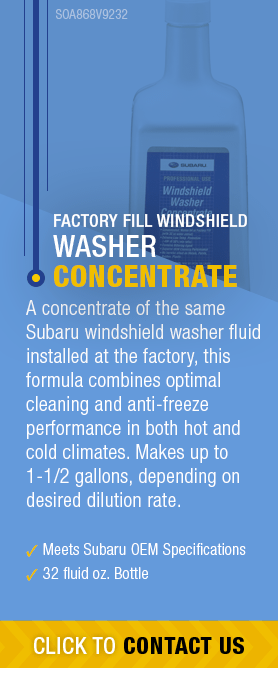 Learn About Genuine Subaru Windshield Washer Concentrate available near Olympia, WA