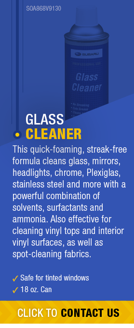 Learn About Genuine Subaru Glass Cleaner available near Olympia, WA