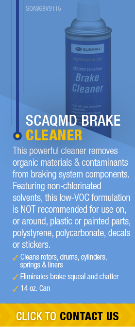 Learn About Genuine Subaru Scaqmd Brake Cleaner available near Olympia, WA