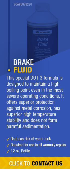 Learn About Genuine Subaru Brake Fluid available near Olympia, WA