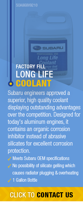 Learn About Genuine Subaru Long Life Coolant available near Olympia, WA