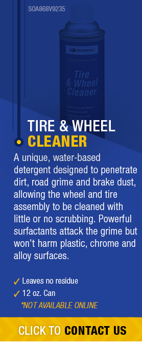 Learn About Genuine Subaru Tire & Wheel Cleaner available near Olympia, WA