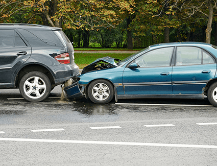 If you experienced a fender bender like this one, you have options when it comes to repairs