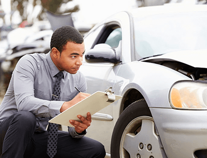 If you file a claim, an adjustor may look over your car to see if it's damaged enough to be totaled