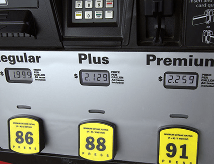 Gas with a lower than recommended octane rating could cause a knocking sound in the engine