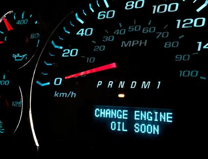 Oil Change Dashboard Reminder