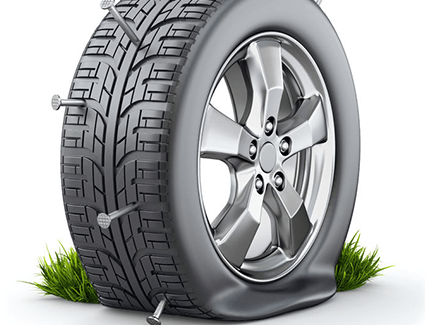 Nails In Tire Illustration