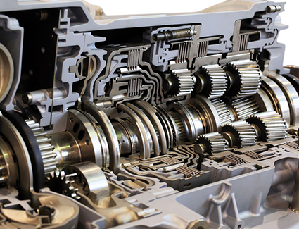 Looking inside this automatic transmission, you can see its massively complex system of gears