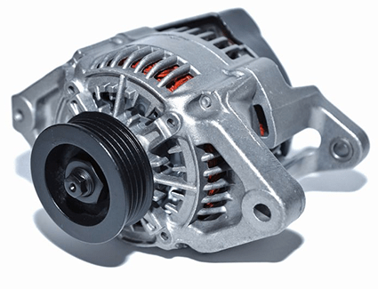 Car Alternator on white background
