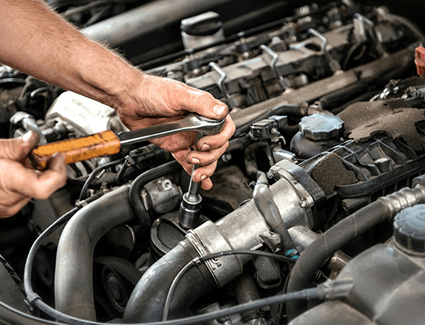 Schedule service for engine backfire in Olympia, WA