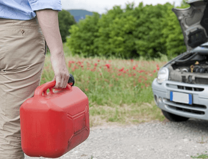 A gasoline leak can leave you stranded