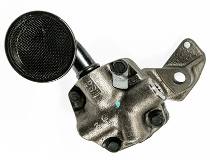 An oil pump like this one is responsible for keeping engine parts lubricated