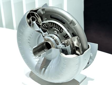 Cross-section of a torque converter