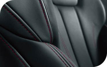 Leather seats inside the Audi A4