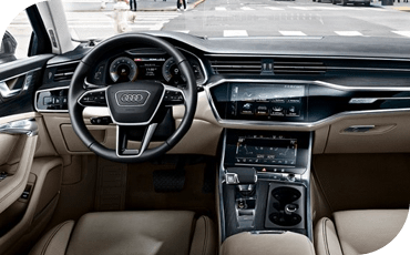 Not one but two displays in the center console let you control everything in your 2020 Audi A6 with just a touch