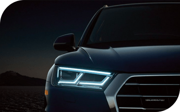 With a vivid LED lighting signiture down the road, the 2020 Audi Q5 makes it easy for you to see ... and be seen by others