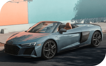 With its top down, this convertible Audi R8 Spyder pairs powerful performance with an open-air driving experience