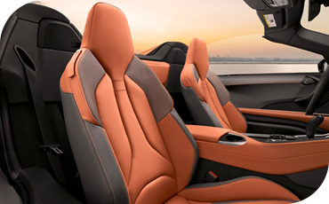 The interior of the BMW i8 is luxurious and sporty