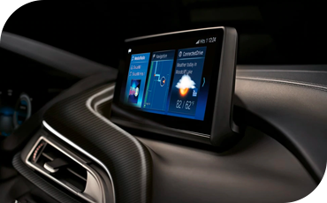 The BMW i8 features attractive and intuitive technology