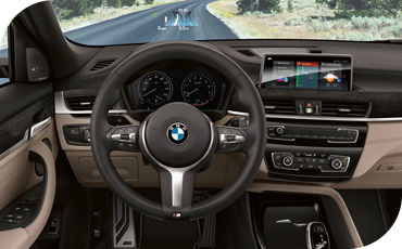BMW X2 technology with HUD