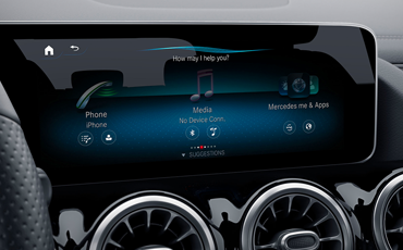 The GLA has the option of upgrading to dual 10.25-inch display screens