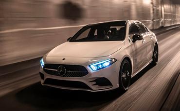 New Mercedes-Benz A-Class LED Headlights