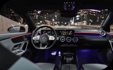 Cockpit of new 2021 Mercedes-Benz A-Class