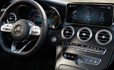 Mercedes-Benz C-Class center display and digital gauge cluster