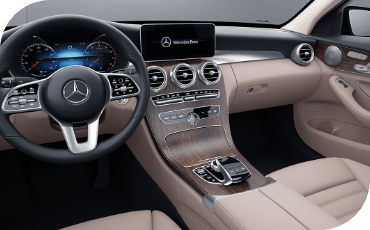 2021 Mercedes-Benz C-Class interior view from driver's seat