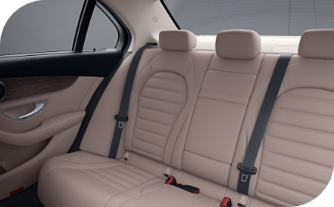 Though it's a compact car, rear seat comfort is important, and the new C-Class provides more than the Lexus IS