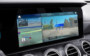 Mercedes-Benz E-Class center display with augmented navigation