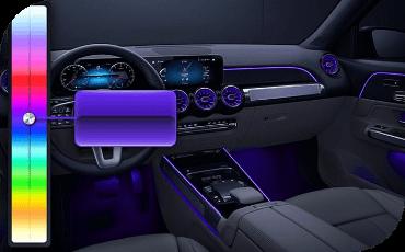 Interior LED lighting selection in Mercedes-Benz GLB