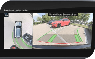 2021 Mercedes-Benz Parking Assistant video display