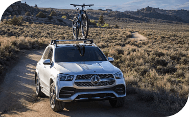 Mercedes-Benz GLE traveling on rugged dirt trail