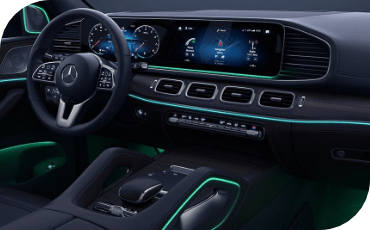 New Mercedes-Benz GLE Ambient Lighting